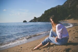 sea, ocean, blue